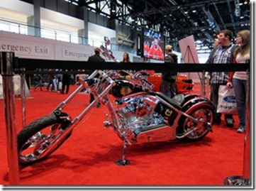CHICAGO BLACKHAWKS CHOPPER FEATURED AT CHICAGO AUTO SHOW 4