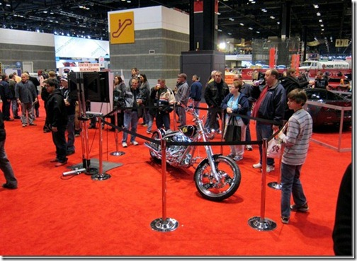 CHICAGO BLACKHAWKS CHOPPER FEATURED AT CHICAGO AUTO SHOW