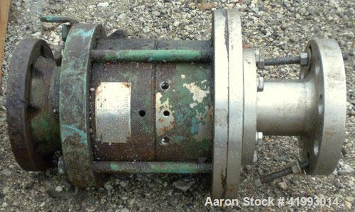 """Used- Lightnin Agitator Seal. Approximate 8 1/2"""" diameter flange with 2 1/2"""" bolt centers. Includes top lifting lugs."""