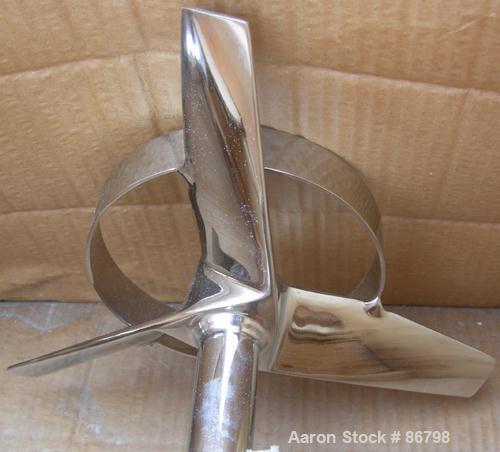 "Unused- Lightnin Agitator Shaft, 316 Polished Stainless Steel. 1-1/4"" diameter x 64"" long shaft. Threaded mounting end. Incl..."