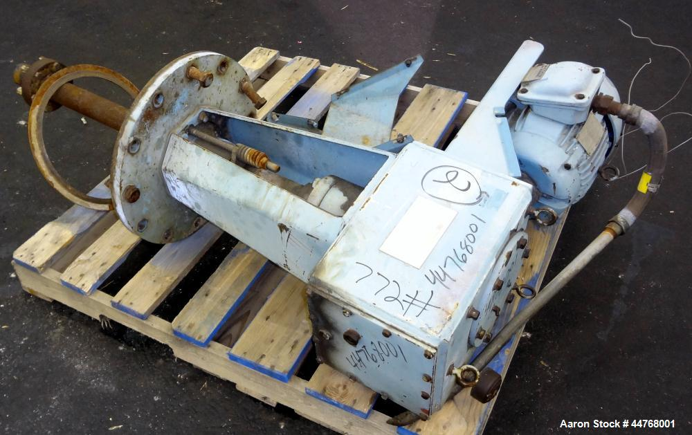 "Used- Chemineer HT Top Entering Agitator, Model 2HTA-3. Output rpm 45. Standard stuffing box, approximately 19"" O.D. carbon ..."