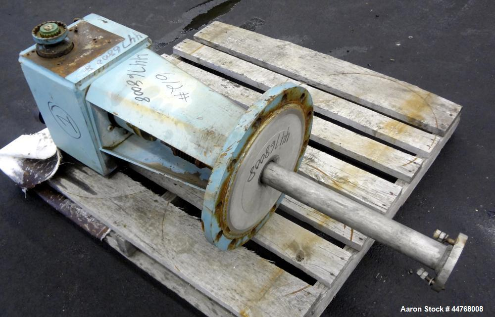 "Used- Chemineer HT Top Entering Agitator, Model 2HTA-3. Output rpm 45, Standard stuffing box, approximate 19"" O.D. carbon st..."