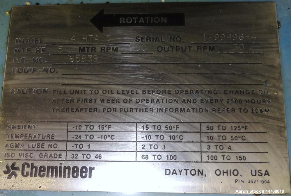 Used- Chemineer HT Top Entering Agitator, Model 4HTA-5