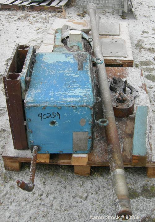 Used- Chemineer Top Entering Agitator, Model 4HTD-10. 45 Output RPM. Driven by a 10 HP, 3/60/230/460 Volt, 1160 RPM motor.