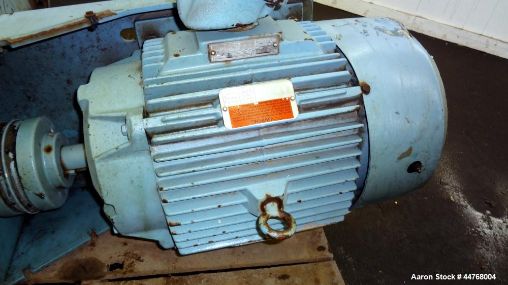 "Used- Chemineer HT Top Entering Agitator, Model 5HTA-15. Output rpm 45, Standard stuffing box, approximate 19"" O.D. carbon s..."