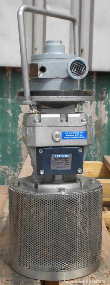 Used- Leeson Fixed Mount Air Operated Agitator