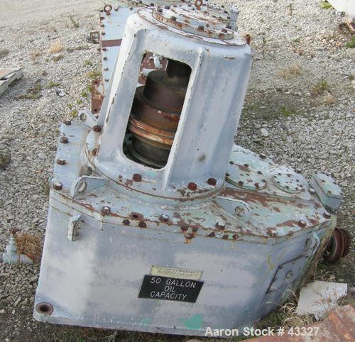Used- Lightnin Top Entering Agitator, Model 11MTBS-287.2. Closed tank design. Ratio 20.8:1, output rpm 84, 287 hp rating. 20...