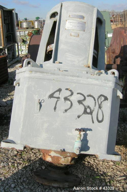 Used- Lightnin Top Entering Agitator, Model 11MTBS-200.2. Closed tank design. Ratio 25.6:1, output rpm 68, 200 hp rating. 20...