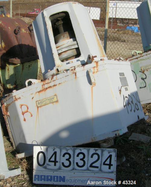 Used- Lightnin Top Entering Agitator, Model 11MTBS-287.2. Closed tank design. Ratio 20.8:1, output rpm 84, 250 hp rating. 20...