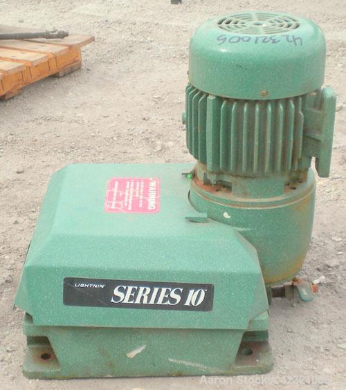 """Used- Lightnin Series 10 Top Entering Agitator, Model 14Q1. Ratio 17.31 to 1, output 45 rpm. Includes a 2"""" diameter x approx..."""