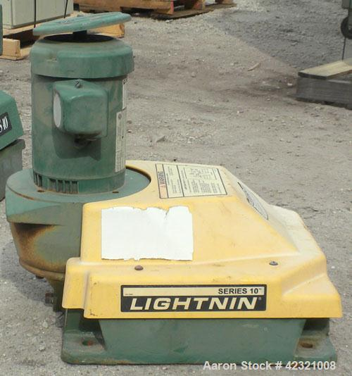 "Used- Lightnin Series 10 Top Entering Agitator, Model 14Q2. Ratio 14.06 to 1, output 125 rpm. Includes a 2"" diameter x appro..."