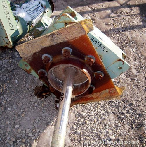 "Used- Lightnin Top Entering Agitator, Model 15-S-3. Ratio 14 to 1, 84 output rpm. 2"" diameter x 120"" long 316 stainless stee..."
