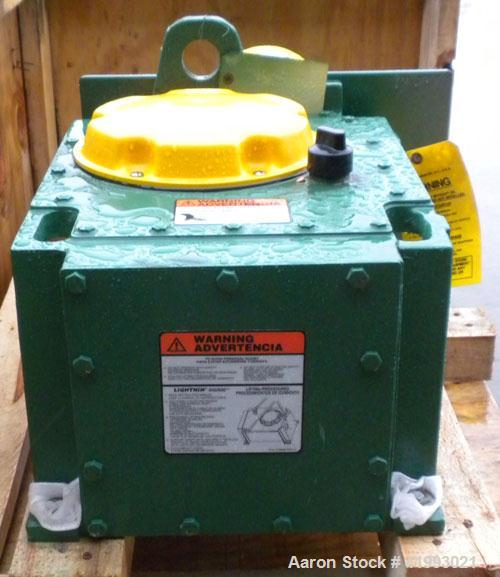 Unused- Lightnin Top Entering Agitator, Model 504-QS-5. Open tank design. Ratio 25.6 to 1, output 46 rpm. Requires motor. Bu...