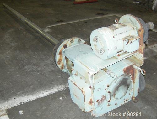 "Used- Lightnin Top Entering Agitator, Model 73-C5B. Ratio 11.4 to 1, 155-34 output rpm. 2-1/2"" diameter x 116"" long, 316 sta..."