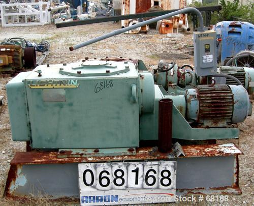 Used- Lightnin Top Entering Agitator, Model 78-Q-30, ratio 68.6:1, output rpm 26. Driven by a 30 hp, 3/60/230/460 volt, 1765...