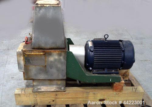 "Used-Lightnin Agitator, Model 82-Q-7.5, rpm 125/40, ratio 14.1 to 1.2"".  10 Hp, 3/60/460 volt, 1755 rpm XP motor."