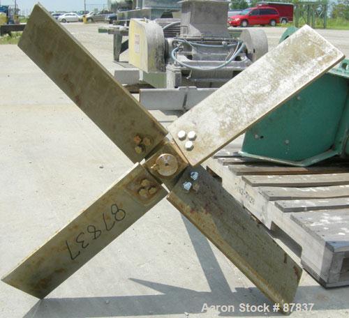 "Used- Lightnin agitator, model 82S5MX, ratio 21.1, output 84 rpm. 2"" diameter 316 stainless steel shaft with a 32"" diameter ..."