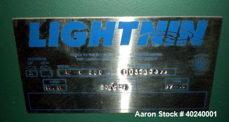 Lightnin Top Entering Agitator, Model 82-0-300