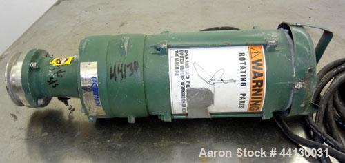 Used- Lightnin Agitator, Model EV5L25. Driven by a 1/4hp, 3/60/230/460 volt, 1750 rpm XP motor. No shaft.
