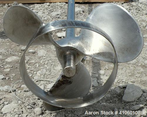 Used- Lightnin Clamp-On Agitator, Model ND-4. 7/8'' diameter x 68'' long 316 stainless steel shaft with a 10'' diameter 316 ...