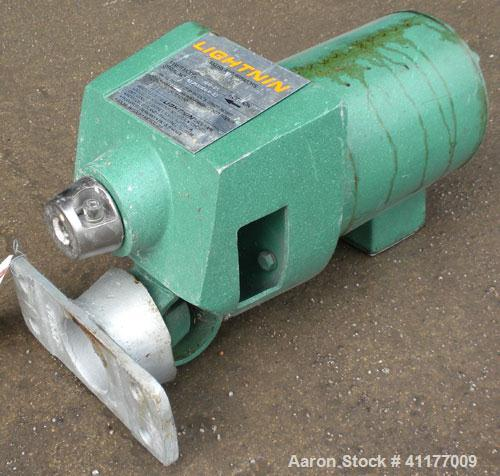 Used- Lightnin Top Entering Agitator, Model NDO-25. Requires a shaft, prop. Driven by a 1/4 hp, 3/60/230/460 volt, 1725 rpm ...