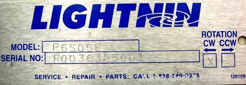 """USED: Lightnin agitator, model P6S05E. 1/2"""" diameter x 25"""" long 316 stainless steel threaded shaft. Approximately 7"""" diamete..."""