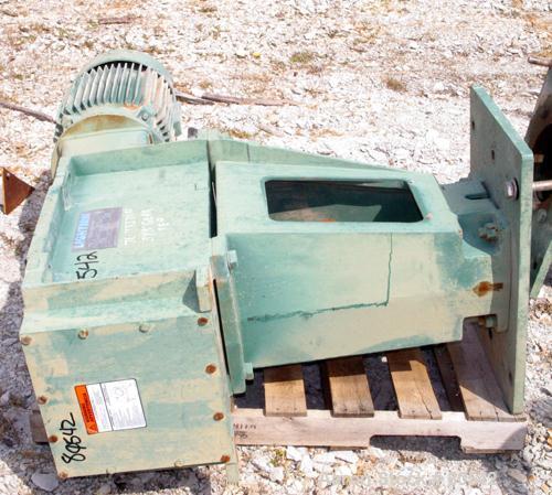 "Used- Lightnin Top Entering Agitator, Model SX506030C. Open tank design. Ratio 21.55:1. Output rpm 20/90. 9-1/2"" diameter ca..."