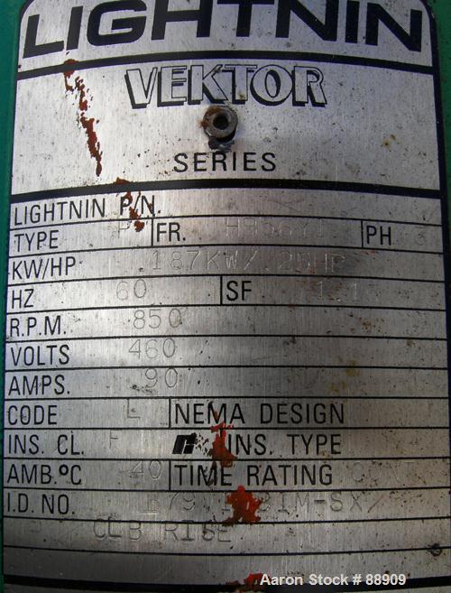 Used- Lightnin Top Entering Agitator, Model V5C18