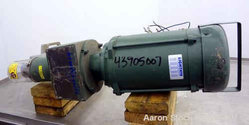 "Used- Lightnin Clamp-On Agitator, Model X1P300.  Clockwise rotation, shaft speed 1725 rpm.  Set up for a 1"" diameter shaft (..."