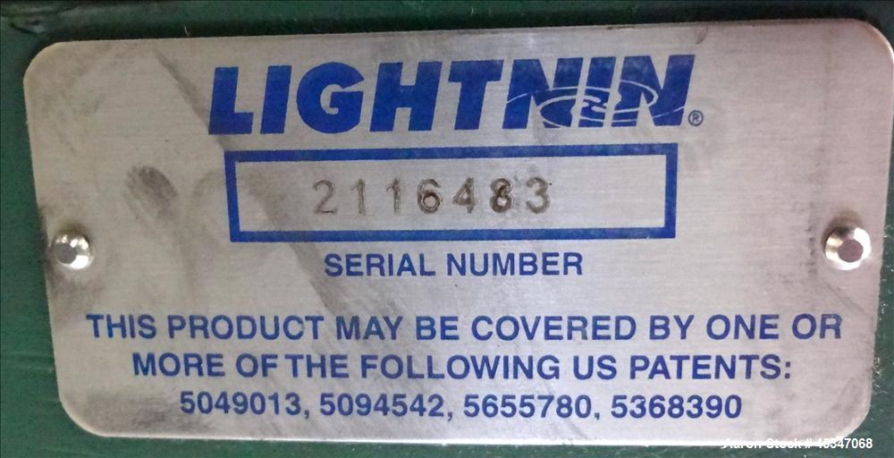 Used- Lightnin Agitator Serial