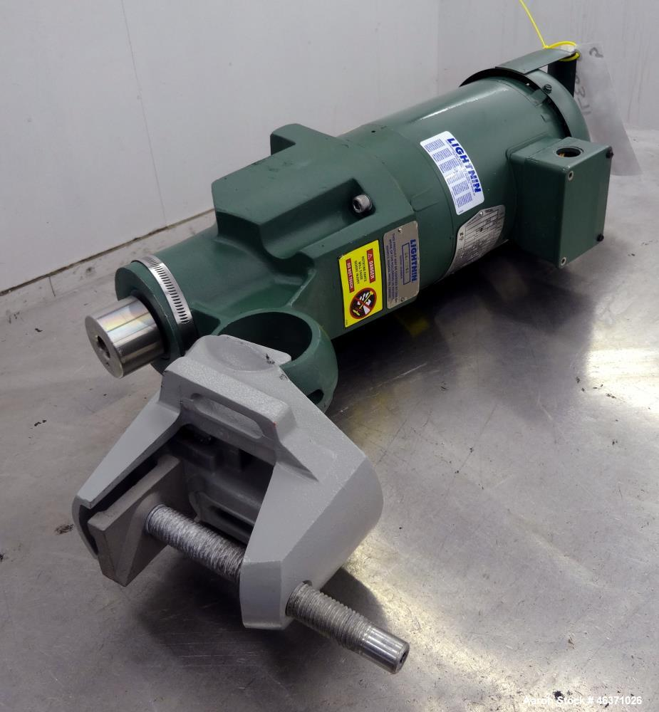 "Used- Lightnin Clamp On Agitator, Model X5P33. 0.33hp, 3/60/208-230/460 Volt, 1725 rpm motor. Set up for an approximate 3/4""..."