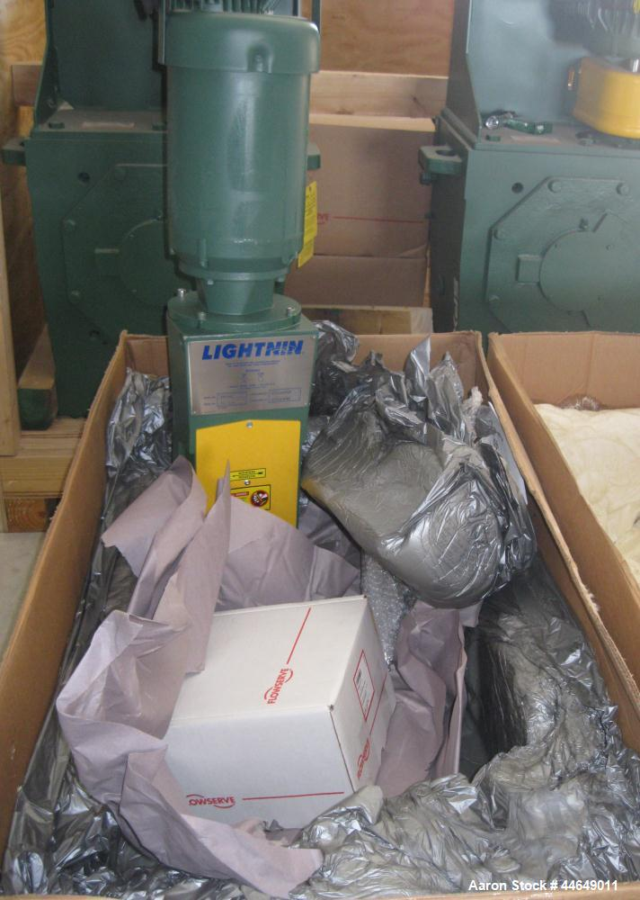 Unused- Lightnin Agitator, Model X6S300. Clockwise rotation. Includes a 3 hp, 3/60/230/460 volt, 1760 rpm motor. Serial#2611...