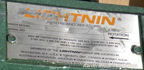 Used- Lightnin Fixed Mount Closed Tank Design Agitator, Model XGAC-100