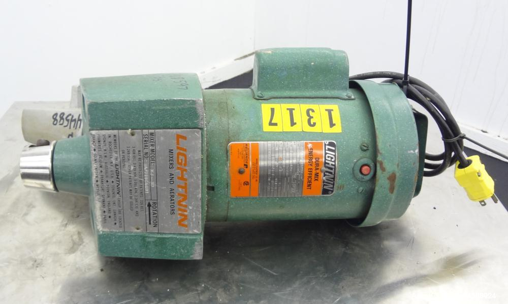 """Used- Lightnin Clamp-On Agitator, Model XJ-30.  0.30 Hp, 1/60/115/230 volt, 1725 rpm motor.  Requires an approximately 5/8"""" ..."""