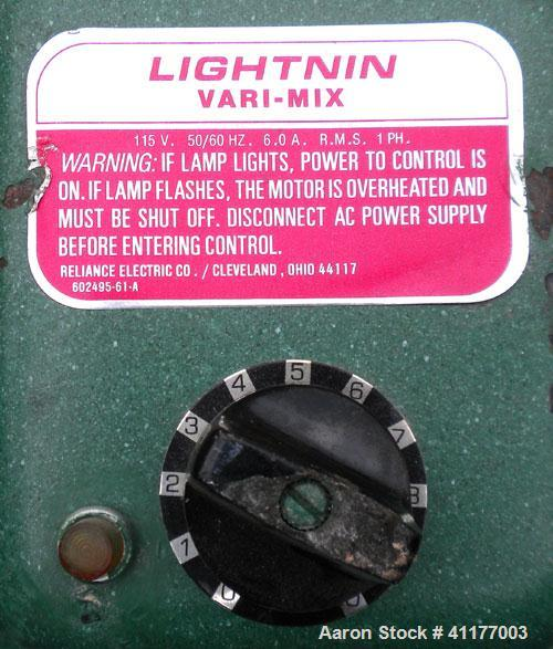 "Used-  Lightnin Agitator, Model XJ-33VM.  Approximate 1/2"" diameter shaft x 32"" long, 316 stainless steel shaft with a 3 bla..."