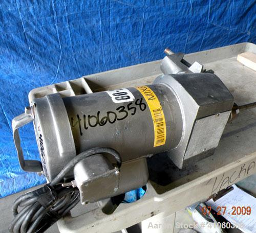 "Used- Lightnin Clamp-On Agitator, Model XJ-43. 5/8"" diameter x 47-1/2"" long 316 stainless steel shaft with a 9"" diameter 316..."
