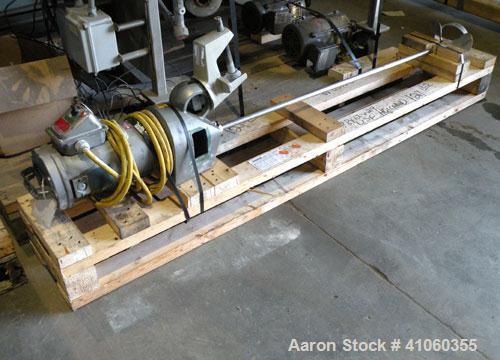 """Used- Lightnin Clamp-On Agitator, Model XJ-75VM. 3/4"""" diameter x 50"""" long 316 stainless steel shaft with a 8-1/2"""" diameter 3..."""