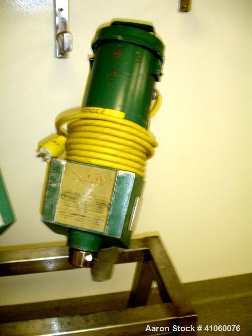 Used- Lightnin Clamp On Agitator, Model XJ75, 3/4 hp DC motor, serial #96/E63659-02.
