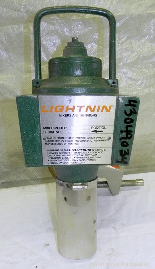 Used- Lightnin Clamp-On Air Operated Agitator, Model XJA-33. Requires shaft and blade.