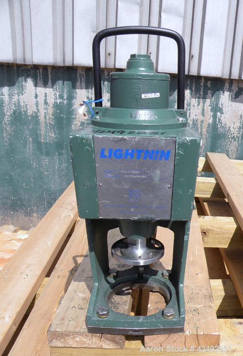 Used- Lightnin Fixed Mount, Open Tank Design, Air Operated Agitator, Model XJACK-100. Clockwise rotation. Approximate 4'' di...