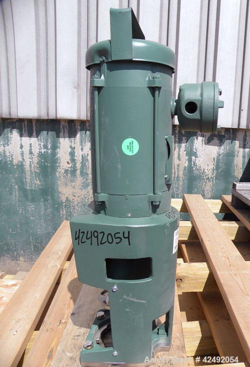 Used- Lightnin Fixed Mount, Open Tank Design Agitator, Model XJCK-117. Clockwise rotation. Approximate 4'' diameter 304 stai...