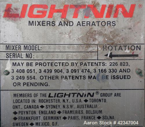 Used- Lightnin Top Entering Agitator, Model XJCK-43XP