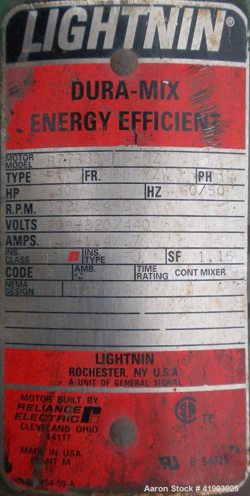Used- Lightnin Closed Tank Design Top Entering Agitator, Model XJDS-30AM