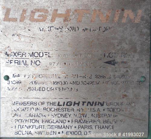 "Used- Lightnin Closed Tank Design Top Entering Agitator, Model XJDS-30AM. 1"" diameter x 12"" long, 316 stainless steel shaft ..."