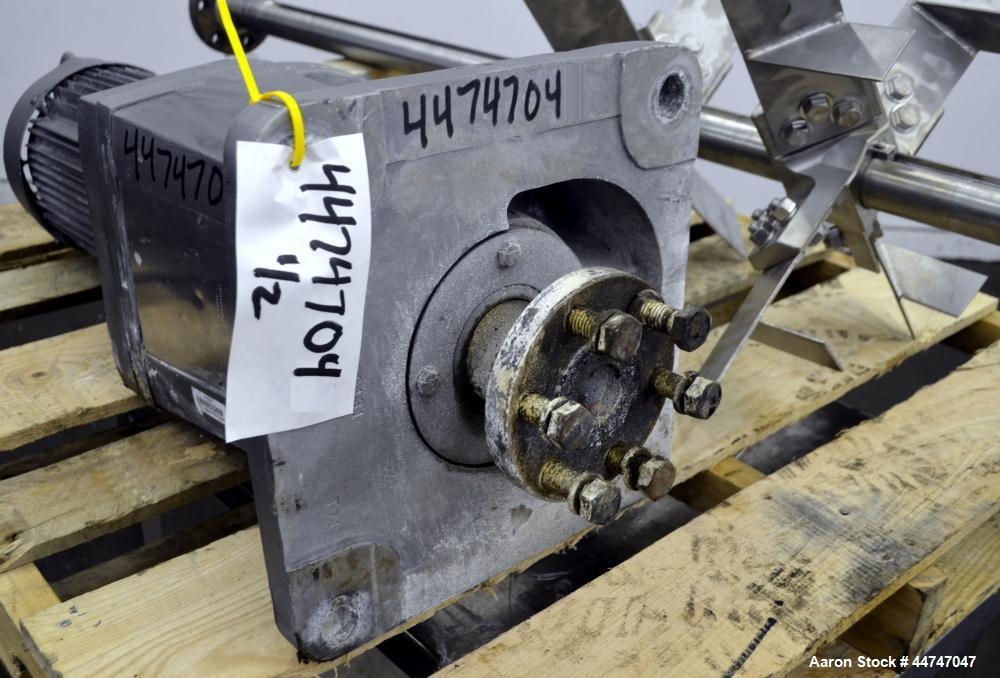 """Used- Lightnin Agitator, Model XLQ500A, Serial# R9972263300501. Approximate 2-1/8"""" diameter x 49-1/4"""" long 316 stainless ste..."""
