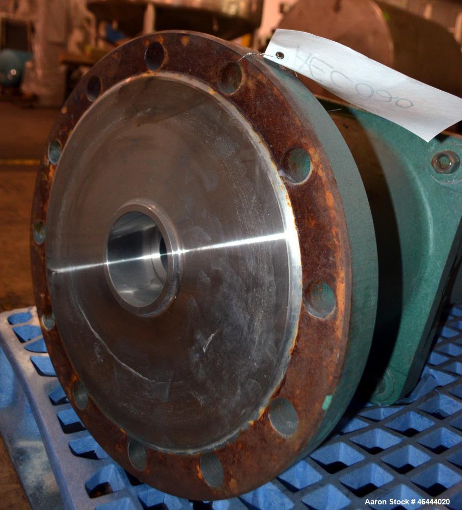 Used- Lightnin Fixed Mount, Closed Tank Design Agitator, Model XLSS-500A. Counter-clockwise rotation. Carbon steel stub shaf...