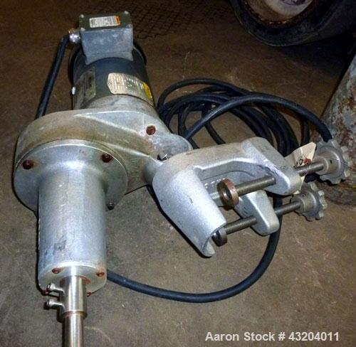 Used- Indco Clamp Mount Agitator, 3hp, prop agitator.