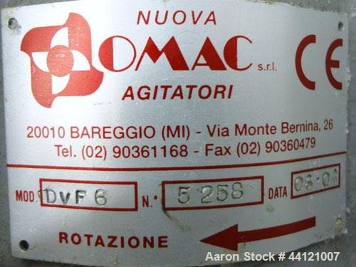 Used- Nuova Omec Top Entering Agitator, Model DVF6