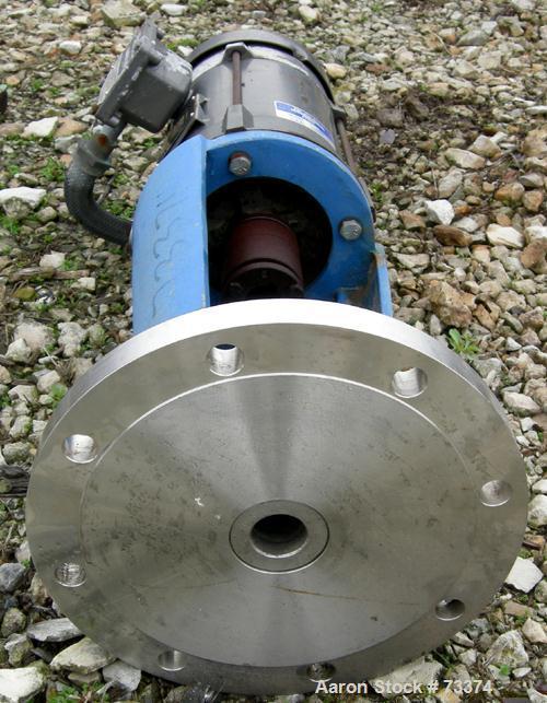 Used- Perma-San Top Entering Agitator, Model TPF-300. Closed tank design. Driven by a 3 hp, 3/60/230/460 volt, 1730 rpm XP m...