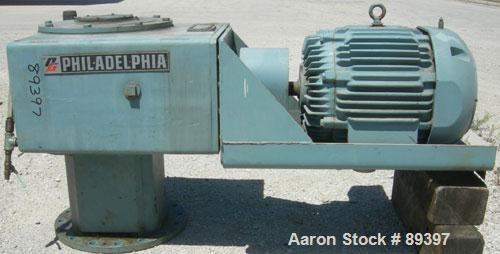 Used- Philadelphia Top Entering Agitator, Model 3809-S-PTVS. Ratio 20.9 to 1, 84/56 output rpm. Driven by a 25/16 hp, 3/60/4...